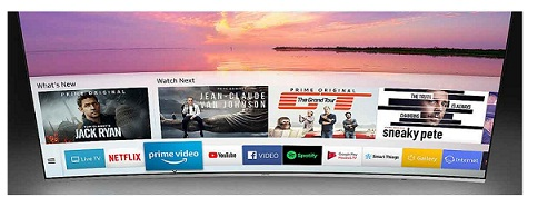 تلویزیون 55 اینچ هوشمند منحنی سامسونگ بانه 24