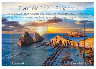 فناوری رنگ ها در تلویزیون الجی LK6100 بانه 24
