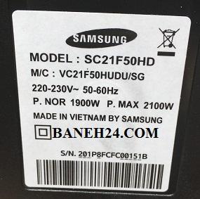 برچسب جاروبرقی 2100 وات سامسونگ مدل 2107 -SC21F50HD- بانه