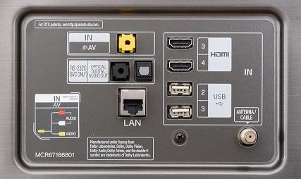 درگاهه های ارتباطی تلویزیون 65 اینچ ال جی SK8000 بانه 24