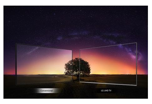 کیفیت تصویر 43  uhd 4k در تلویزیون ال جی um7340 بانه 24