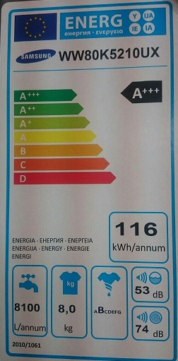 ww80 مصرف انرژی