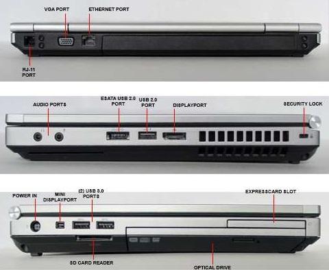 لپ تاپ استوک اچ پی hp elitebook 8460p core i5 بانه 24