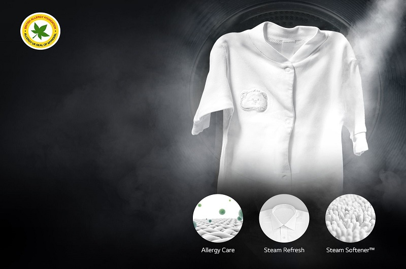 قابلیت بهداشتی بخارشور در لباسشویی FH4G6TDY6 ال جی