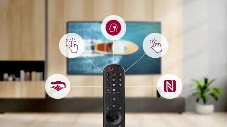 خرید تلویزیون ال جی از بانه مدل 50UP7550 دارای ریموت جادویی