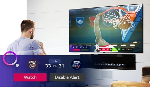 تلویزیون ال جی nano90 با قابلیت sport alert