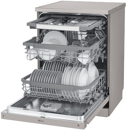 بانه - ظرف شویی ال جی با قابلیت easy rack plus - هور