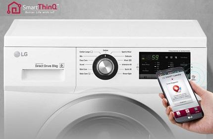 لباسشویی ال جی با عیب یابی هوشمند - baneh24