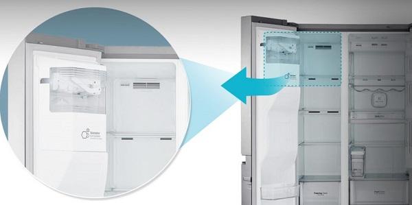یخچال lg l287 با یخساز و آبسرد کن خودکار بانه کالا