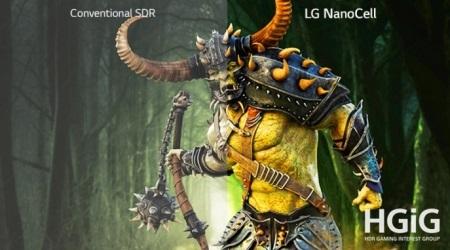 بانه کالا عرضه lg nano79 با قابلیت hgig