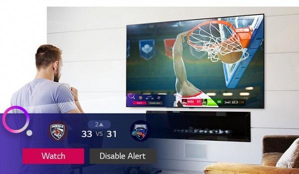 محصولات خانگی بانه کالا lg nano79 با قابلیت اعلان ورزشی