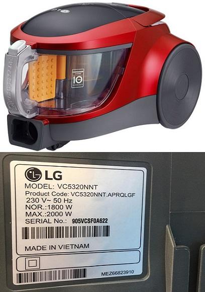 جاروبرقی 2000 وات ال جی - خرید از بانه - lg vc5320nnt - بانه - baneh24