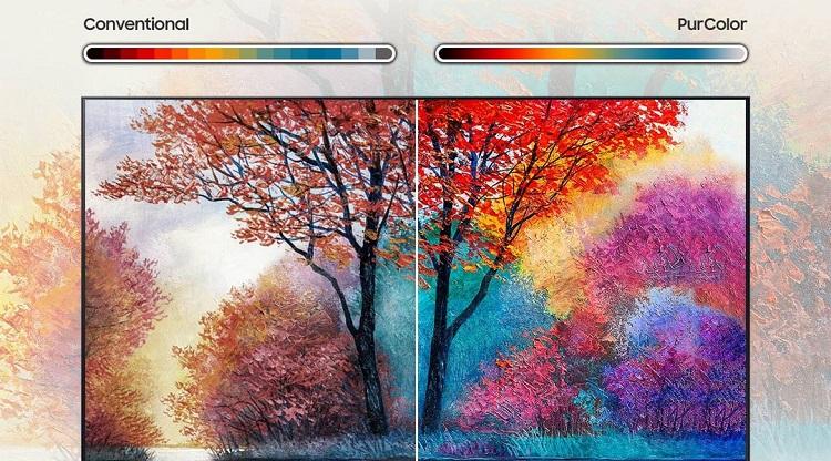 تلویزیون 55AU7100 دارای رنگهای جذاب طبیعی