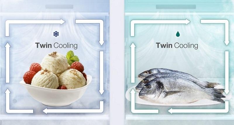 Twin Cooling Plus یخچال فریزر RF48