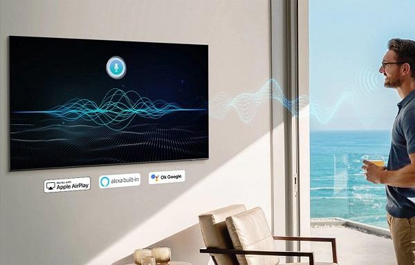 تلویزیون هوشمند au8000 با قابلیت کنترل صوتی، بانه کالا 65