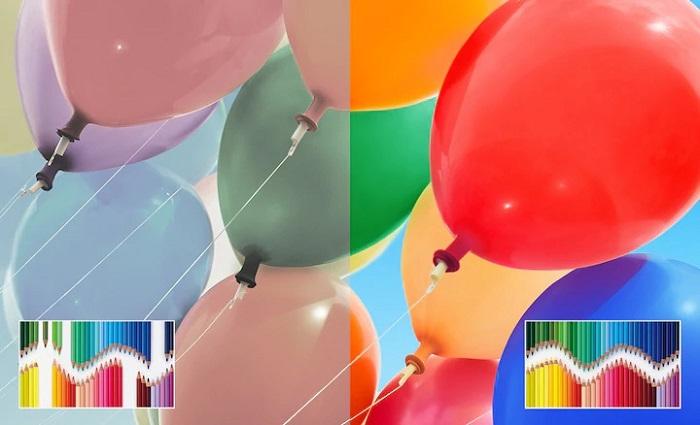 تلویزیون 55X8000H با امکان ایجاد طیف گسترده رنگها