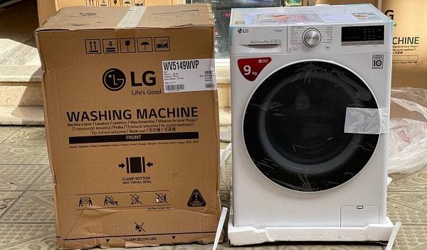 خرید ماشین لباسشویی v5 سفید ال جی بخارشو دار بانه